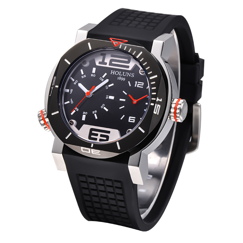 Men Digital Quartz Brand Watch Pocket, Waterproof Stainless Steel Sports Wristwatches Large Dial Luxury Automatic