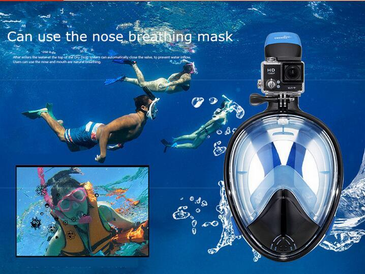 Snorkeling Sanbao Snorkeling Full-Face Adult Swimming Goggles and Equipment