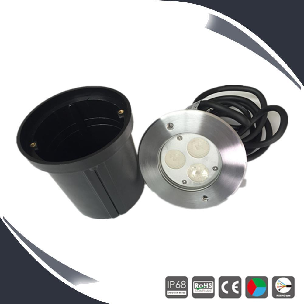 Stainless 3X1w/3X3w IP68 LED Underwater Lamp RGB