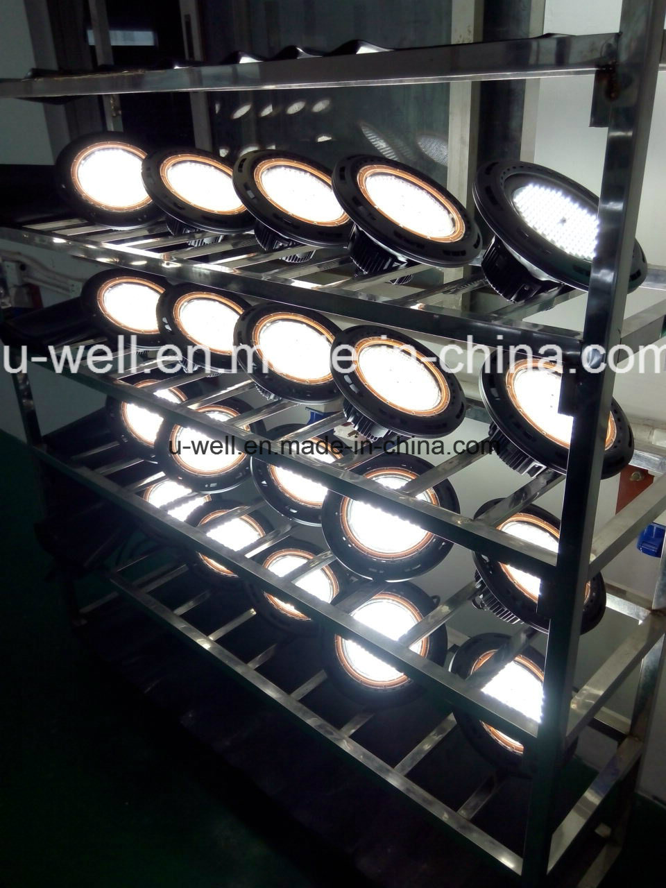 China Industrial UFO Highbay Lighting Lamp IP65 Waterproof 130lm/W Dimmable 240W 200W 160W 150W 100W LED High Bay Light