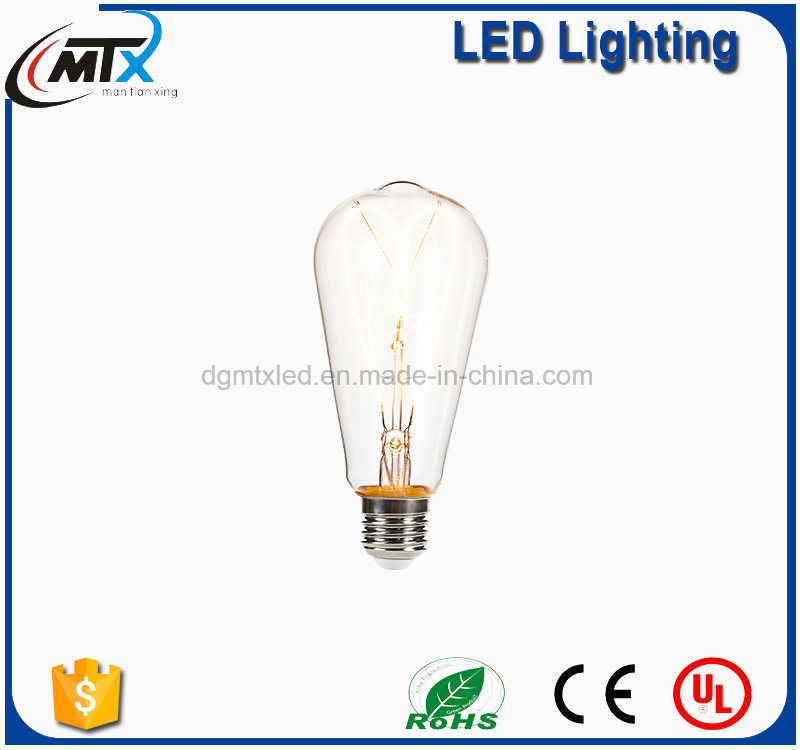 4W 2200K Edison Style Vintage G80 G125 LED Filament Bulb