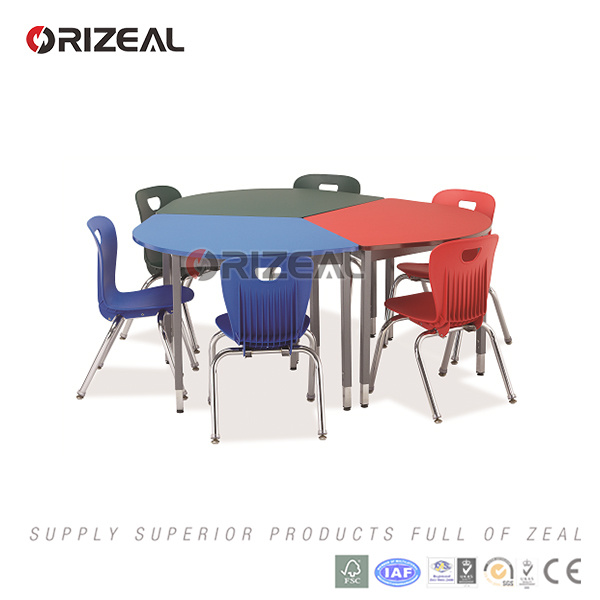 Europen Modern Interactive Table and Plastic Chair About Collaborative School Furniture