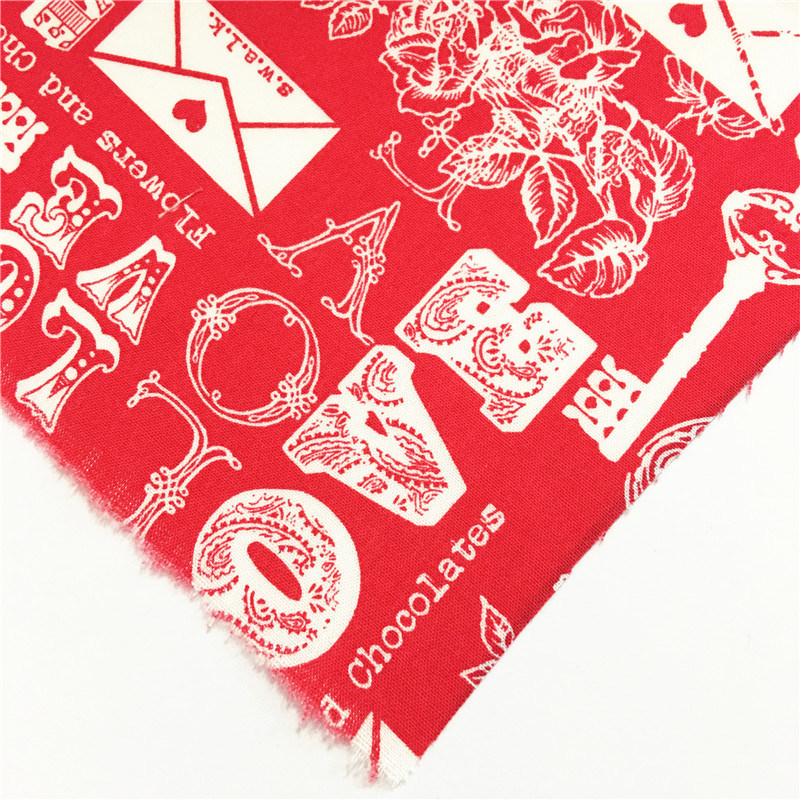 Fashion Red T/C Polyester Cotton Garment Fabric for Dress/Shirt/Skirt/Bag/Shoes