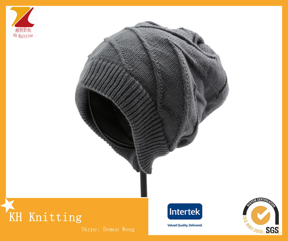 2016 Beautiful Slouch Beanies Knitted Custom Winter Knitted Hat