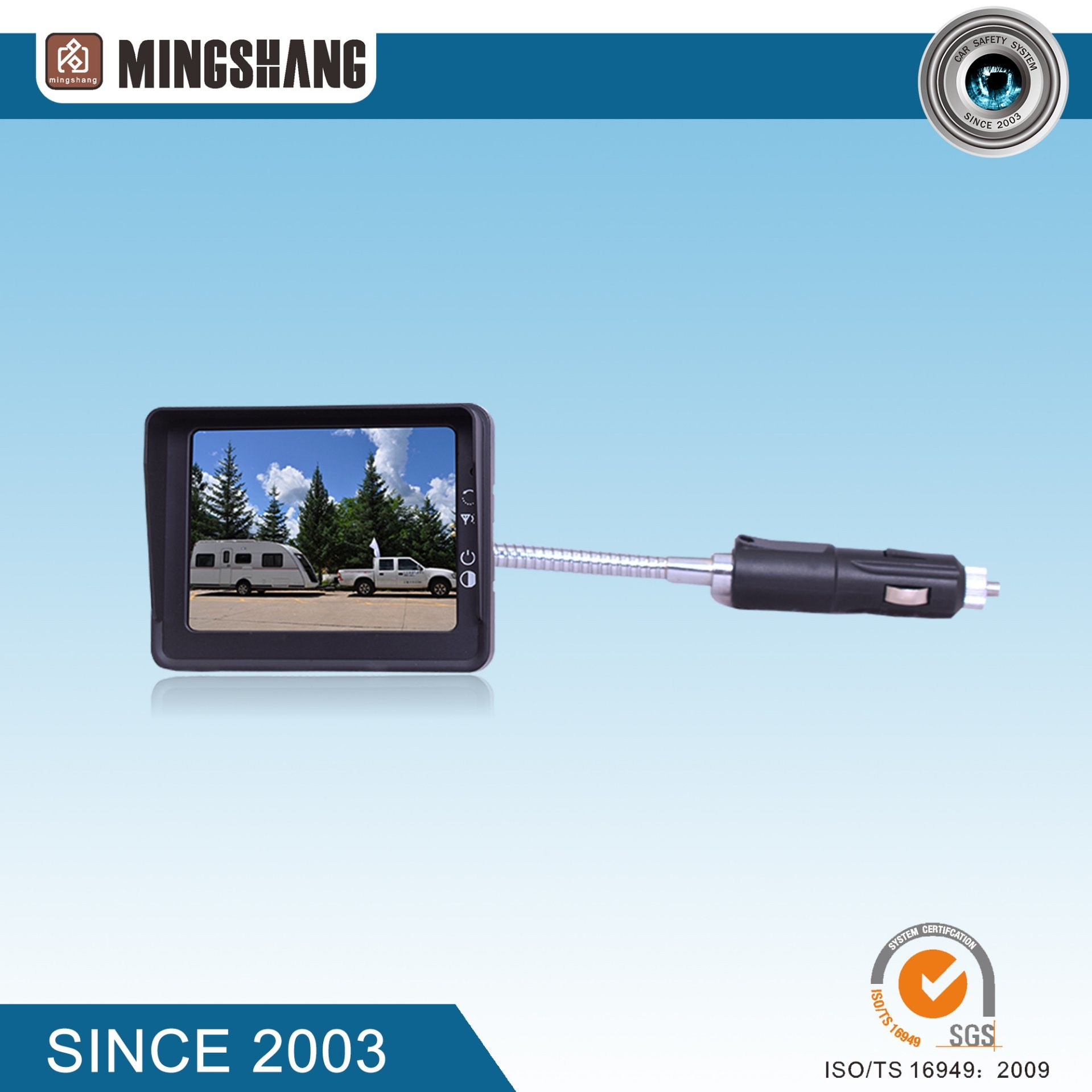 3.5-Inch Digital Signal Wireless Backup Camera, Based on Magnetic and with Battery