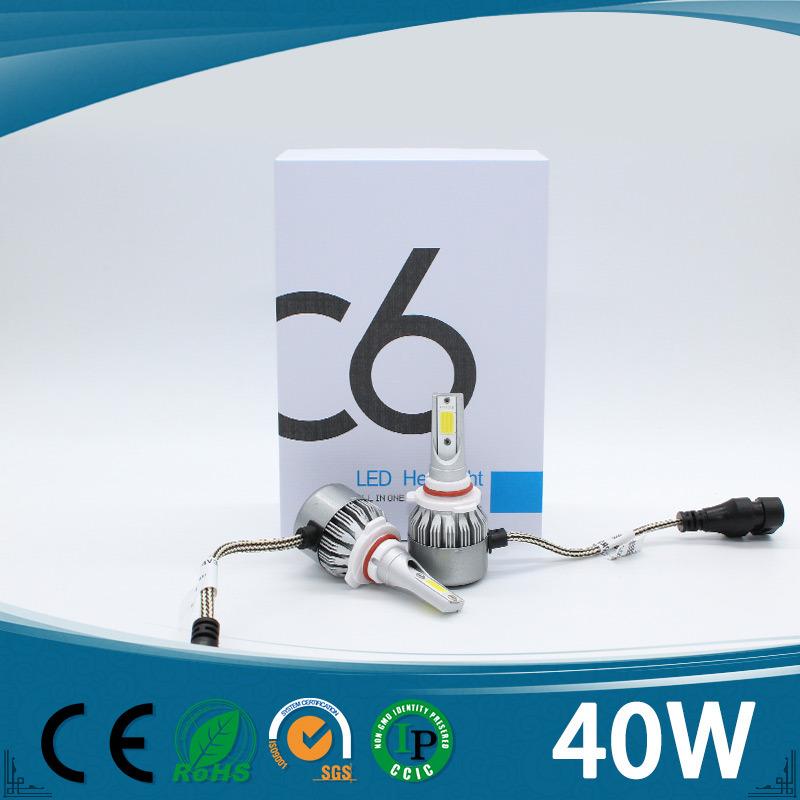 Super Bright H1 H3 H4 H7 H8 H9 H11 9005 9006 40W 4500lm COB Auto LED Headlight
