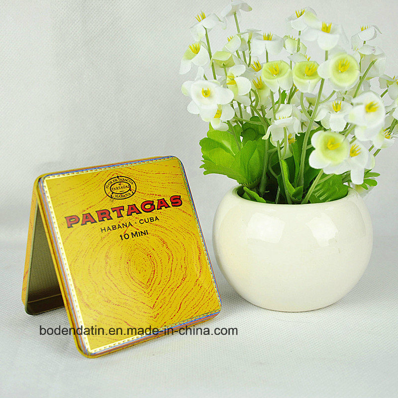Custom Metal Rectangular Tobacco Tin Box, Cigarette Tin Box, Cigarette Case