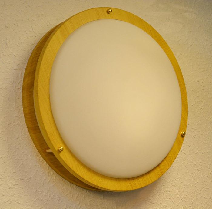 Modern Metal Round LED Ceiling Lights Lamp in Wood Grain Painting for Bedroom/ Bathroom