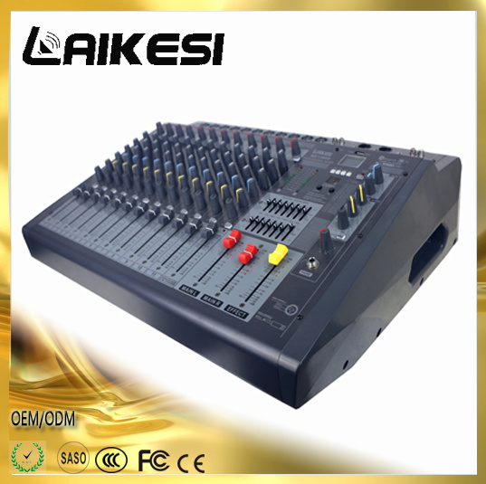 Mx1206D Powered Mixer Console with Power Amplifier/Bluetooth