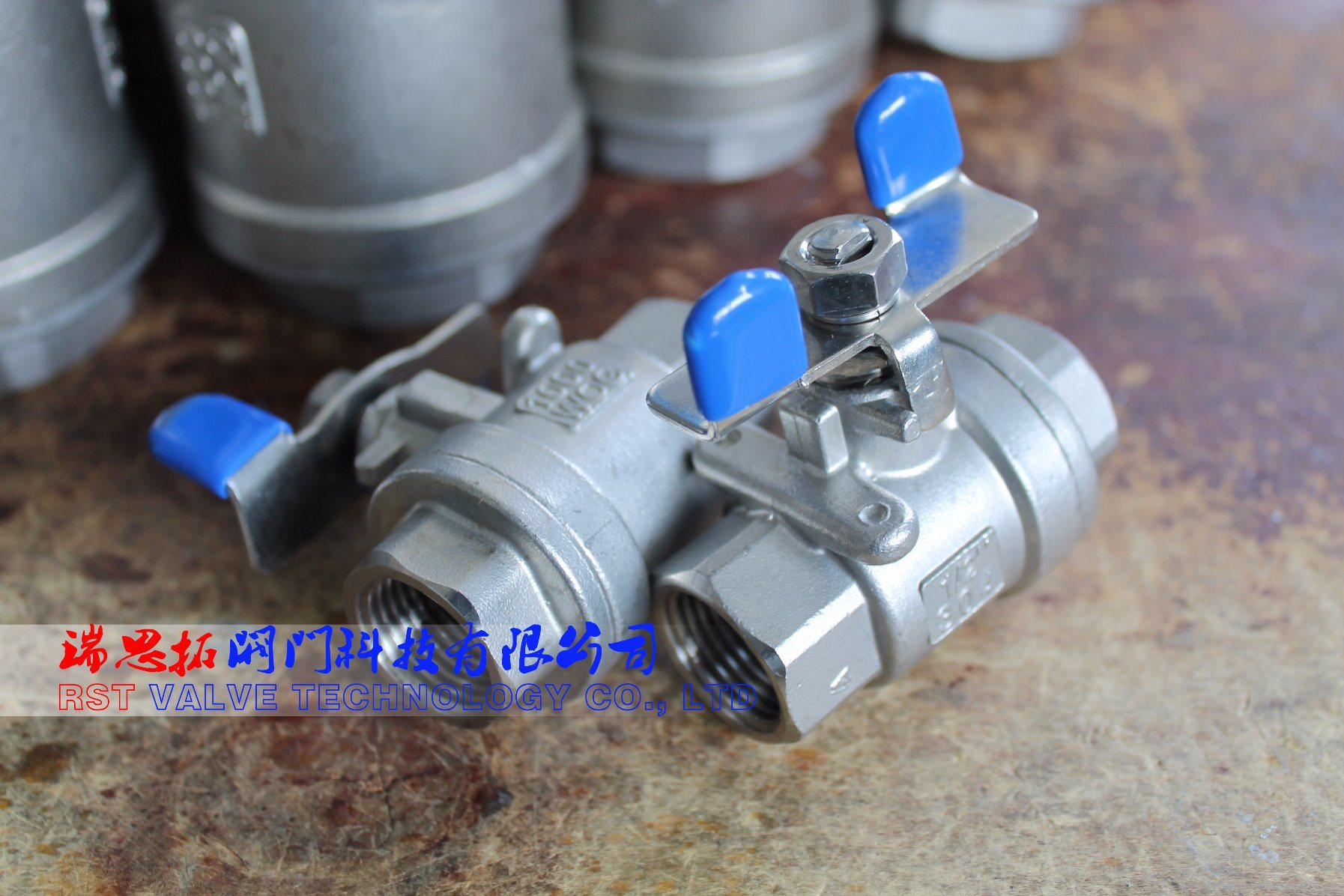 Butterfly Handle Stainless Steel Threaded 2PC Ball Valve