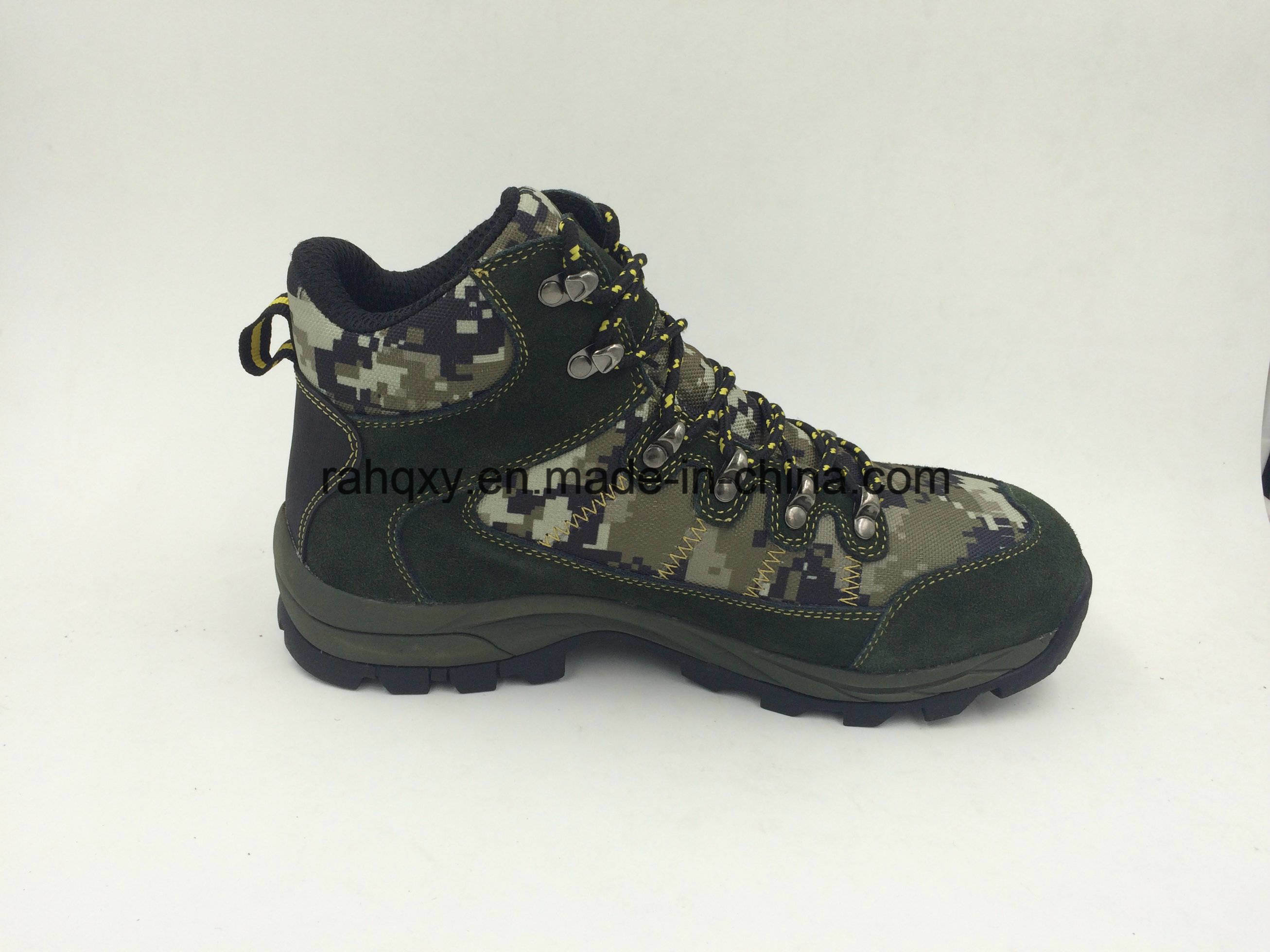 Split Leather Camo Safety Boots (16072)
