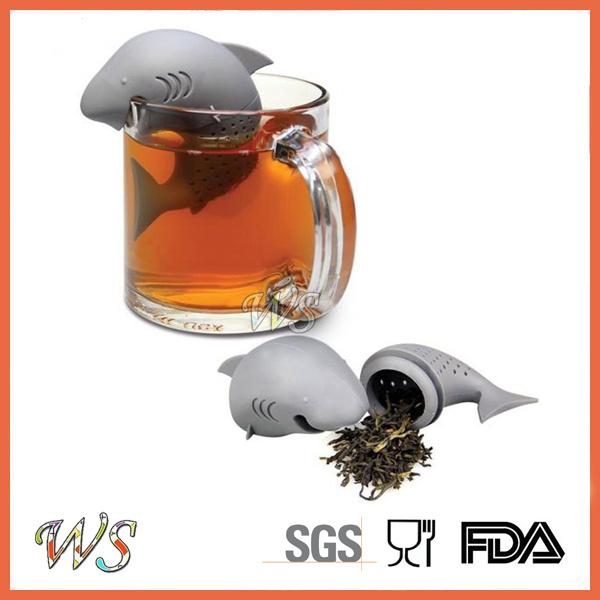 Ws-If056 Food Grade Silicone Dophin Tea Infuser Leaf Strainer for Mug Cup, Tea Pot