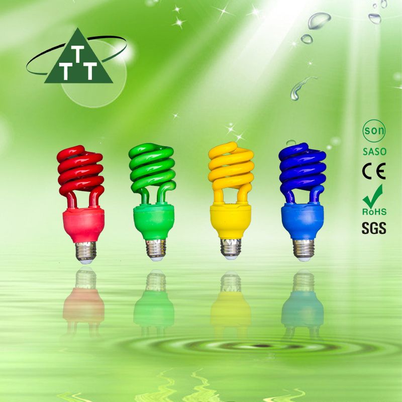 Energy Saving Lamp 105W Half Spiral Tri-Color 2700k-7500k E27/B22 220-240V