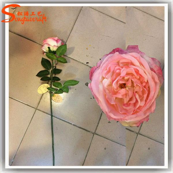 Artificial Silk Rose Flowers for Wedding Decoration or Restaurant Decoration