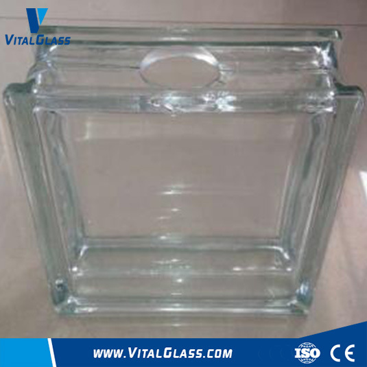 Clear Perforated Glass Brick/Block (G-B)