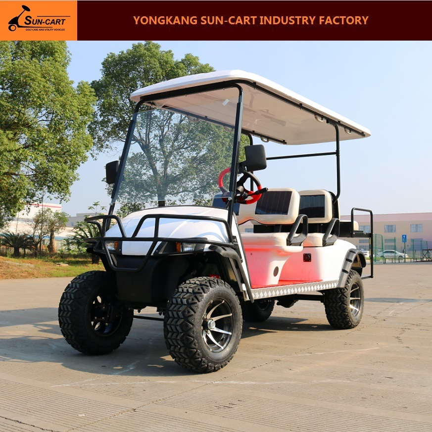 6 Passenger Electric Hunting Golf Cart (Rear back folding seats)