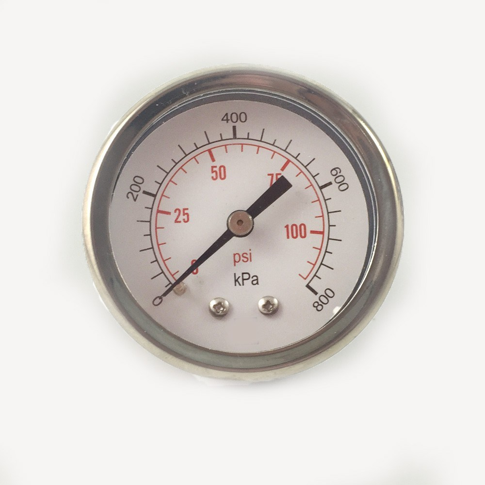 043 40mm Brass Internal Use No Oil Compound Pressure Gauge