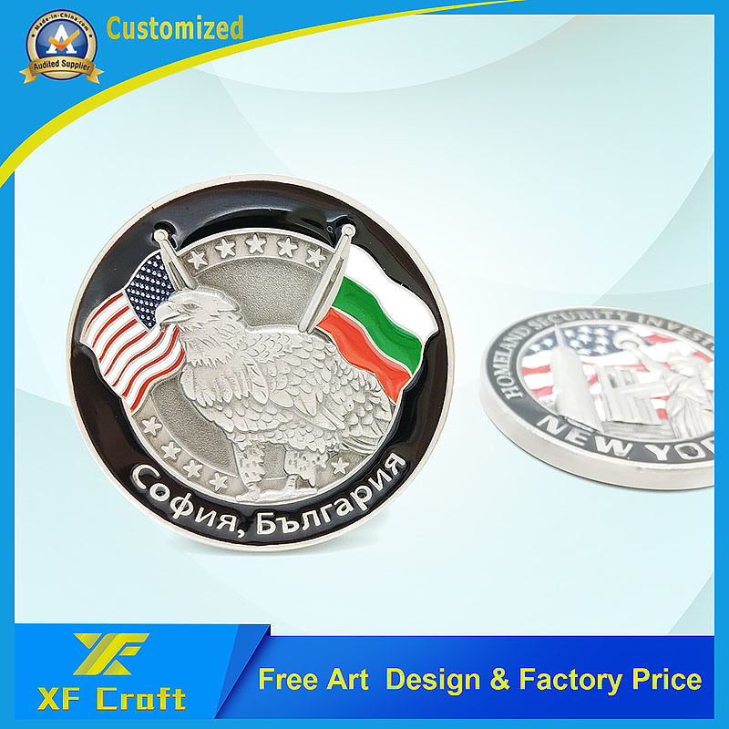 Professional Customized Souvenir Metal 3D Coins with Lower Price (XF-CO05)