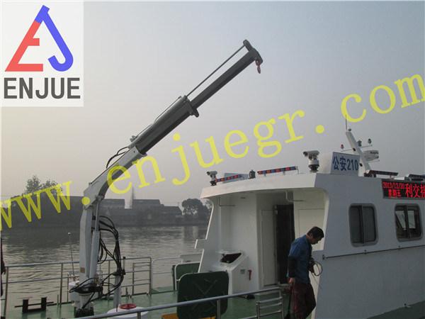 1t Hydraulic Small Size Davit Crane Fishing Crane with Telescopic Boom