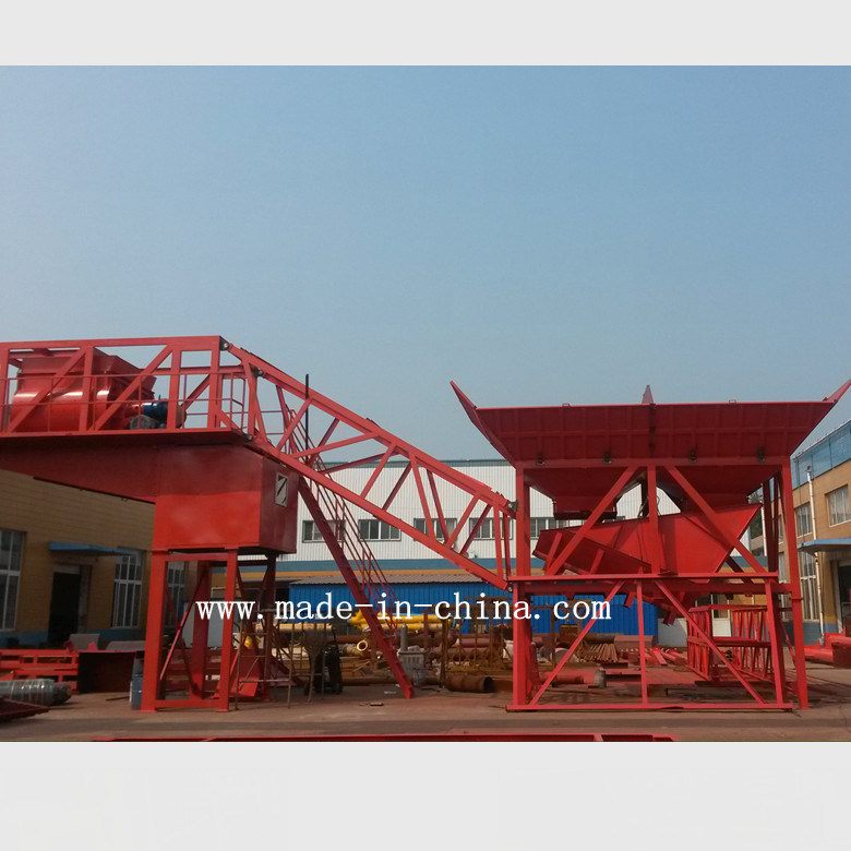75m3/H Full Automatic Mobile Concrete Mixing Plant / Batching Plant