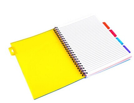 Spiral Writting Notebook with Index Made in China