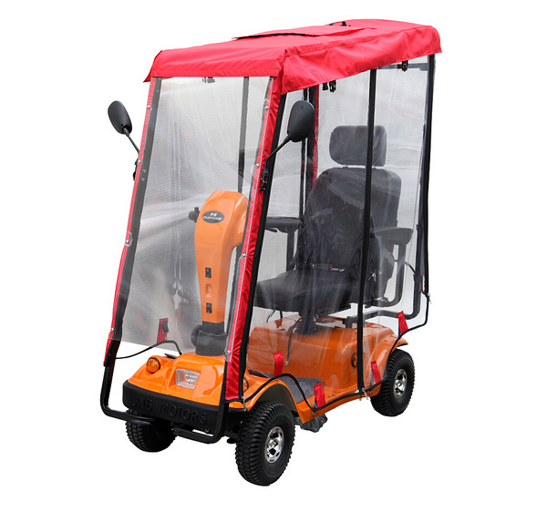 Four Wheels Electric Mobility Scooter with Rain Cover
