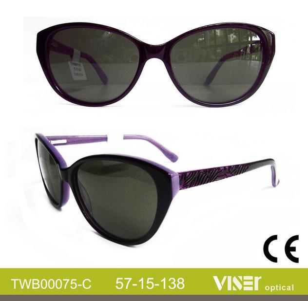 Modern Design Wholesale Fashion Sunglasses Acetate (75-B)