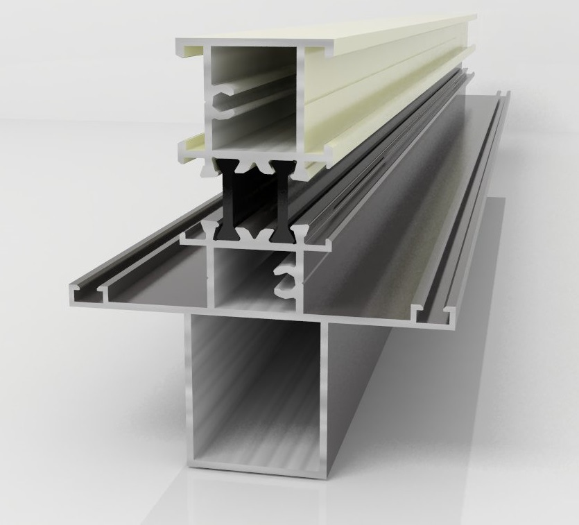 Aluminium Construction Profile for Windows and Doors