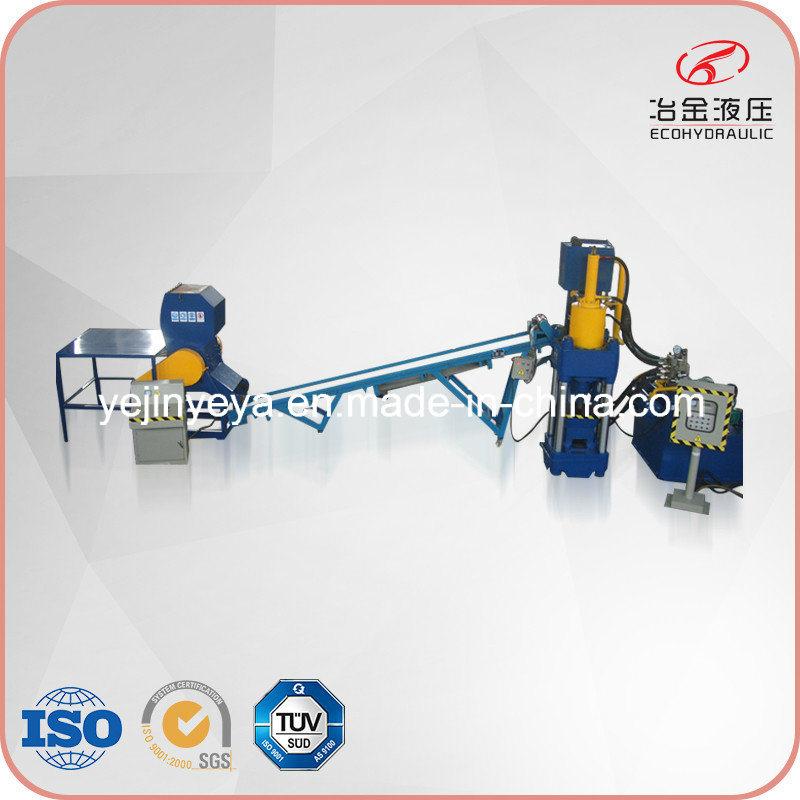 Automatic Aluminum Scrap Briquetting Press Line with ISO