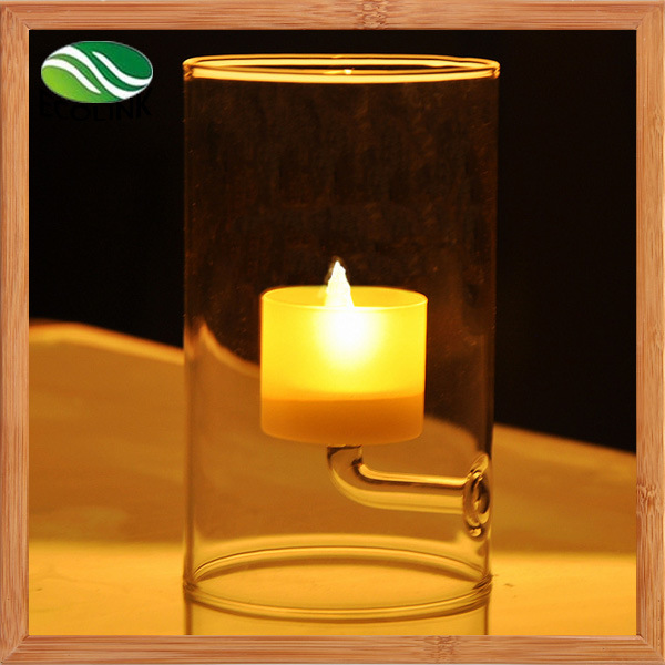 Popular European Style Crystal Glass Candlestick for Home Decoration