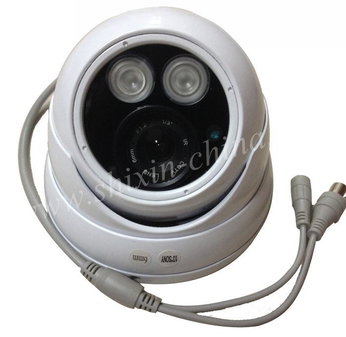 1/3 Coms 1200tvl Lines IR-Cut Array LED Light Metal Housing Analog CCTV Camera,