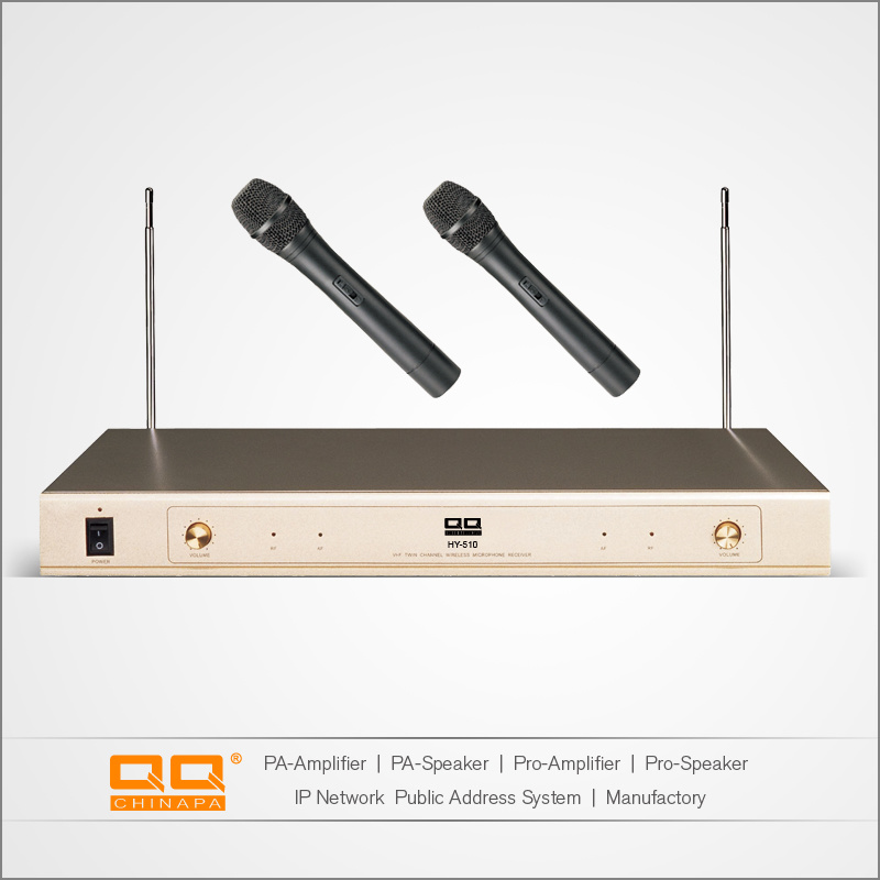 Dual Channel Wireless Microphone VHF with CE