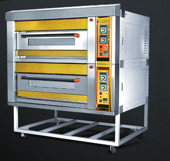 Three Compartment Gas Deck Oven for Bread Baking