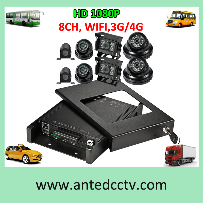 4/8 Security Cameras on Board CCTV for Cars Buses Trucks Taxis Vehicles Automotives