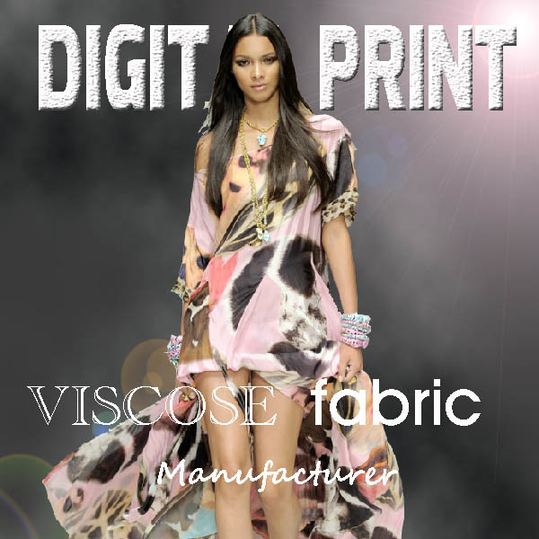 Digital Printed Viscose Fabric