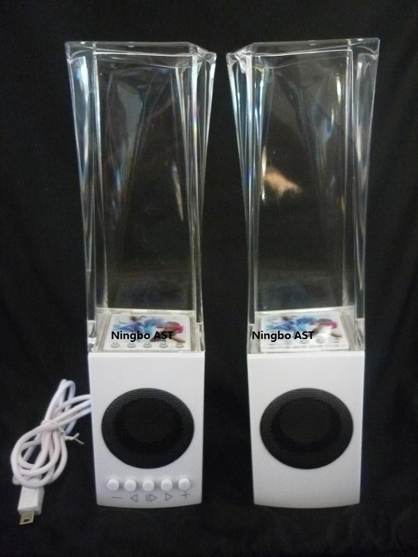 Water Dancing Speaker, Colorful Lighting LED Water Fountain Speaker