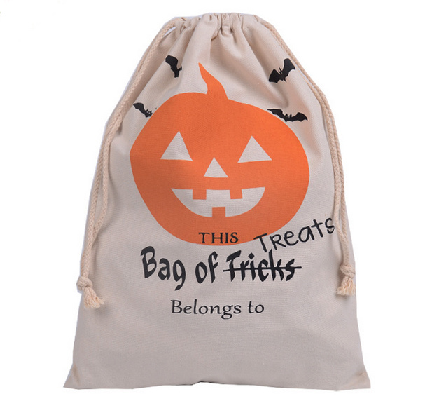 Halloween Favor Cotton Bag with Drawstring