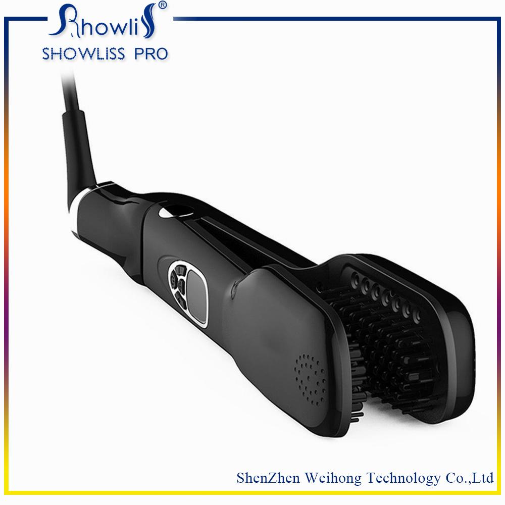Wholesale Good Quality LCD Steam Brush Hair Straightener