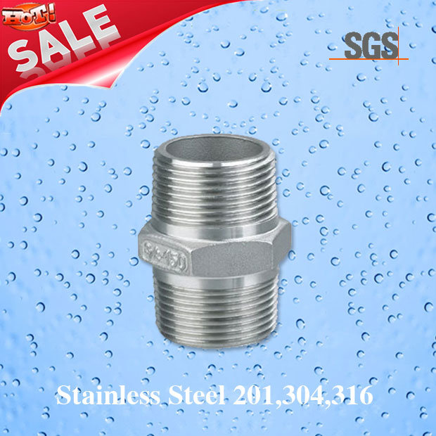 Stainless Steel Casting Male Threaded Nipple, Stainless Steel Nipple