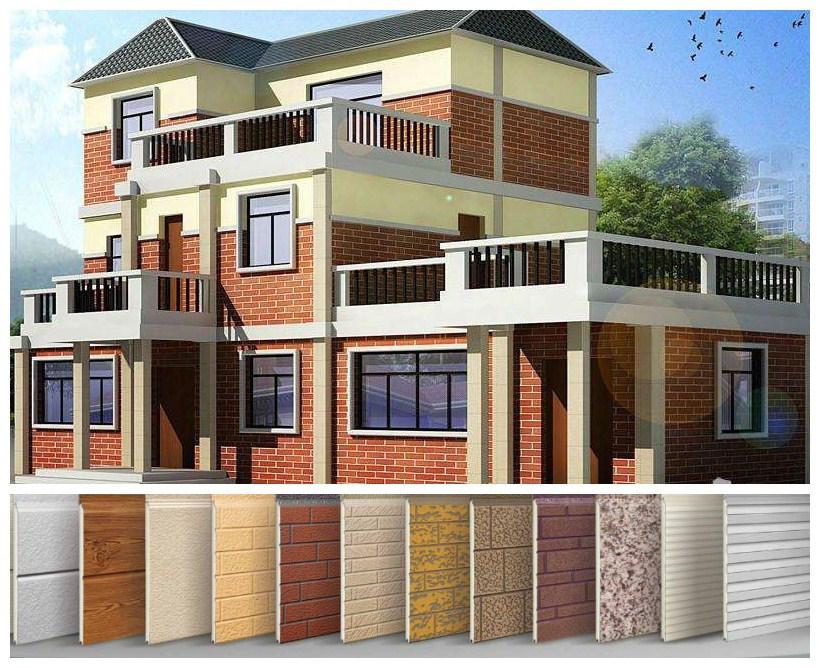 Decorative Heat Insulation Embossed Metal Steel Panel for Villas