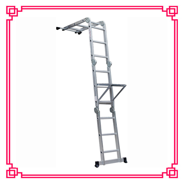 Aluminum Multi-Purpose Scaffold Ladder with Workfrom