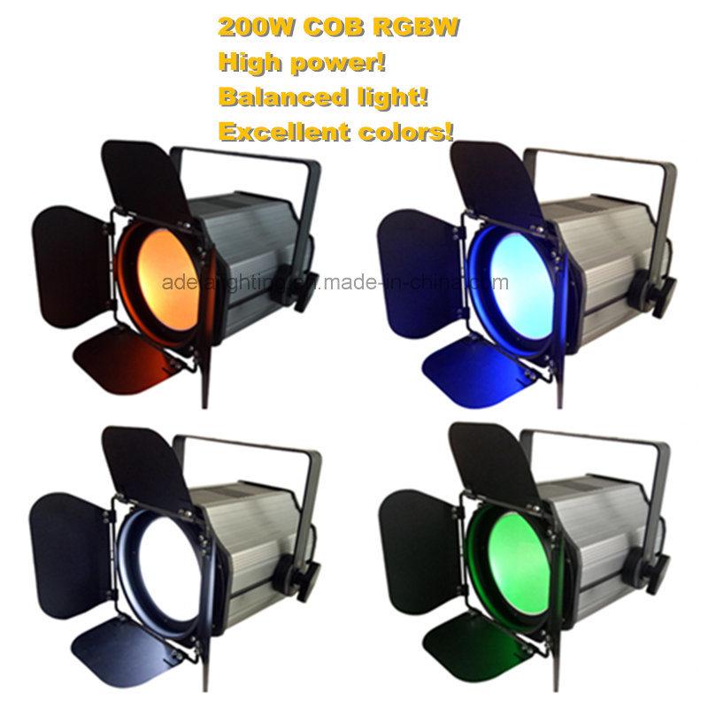 200W RGBW 4in LED COB PAR Light