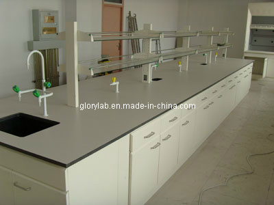 Steel Centre Bench Laboratory Furniture (JH-SL008)