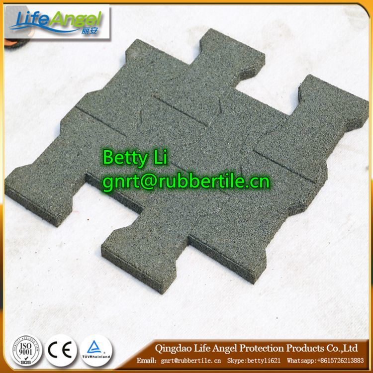 Middle Rubber Crumb Material Rubber Tile for Outdoor, Driveway