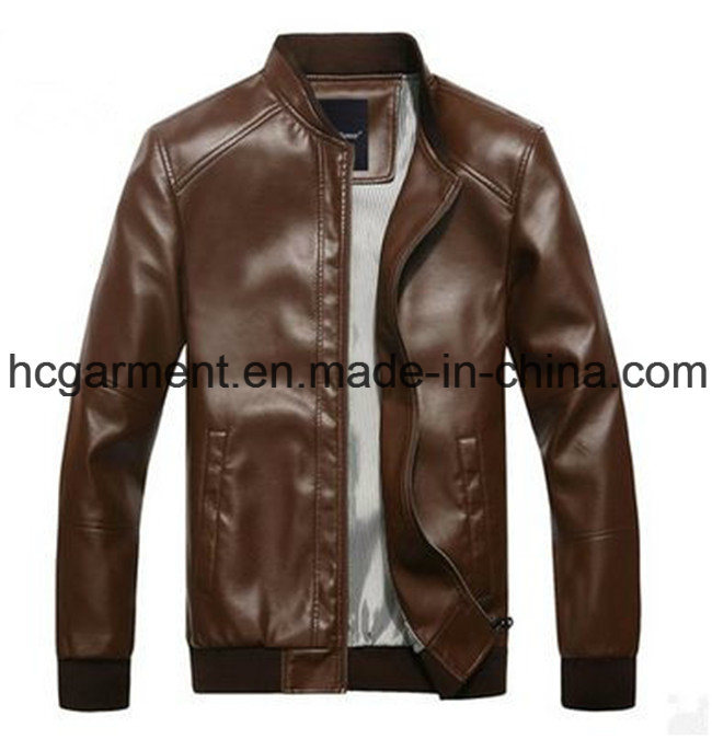 Motorcycle Jacket, Safety Waterproof PU Leather Jackets for Man