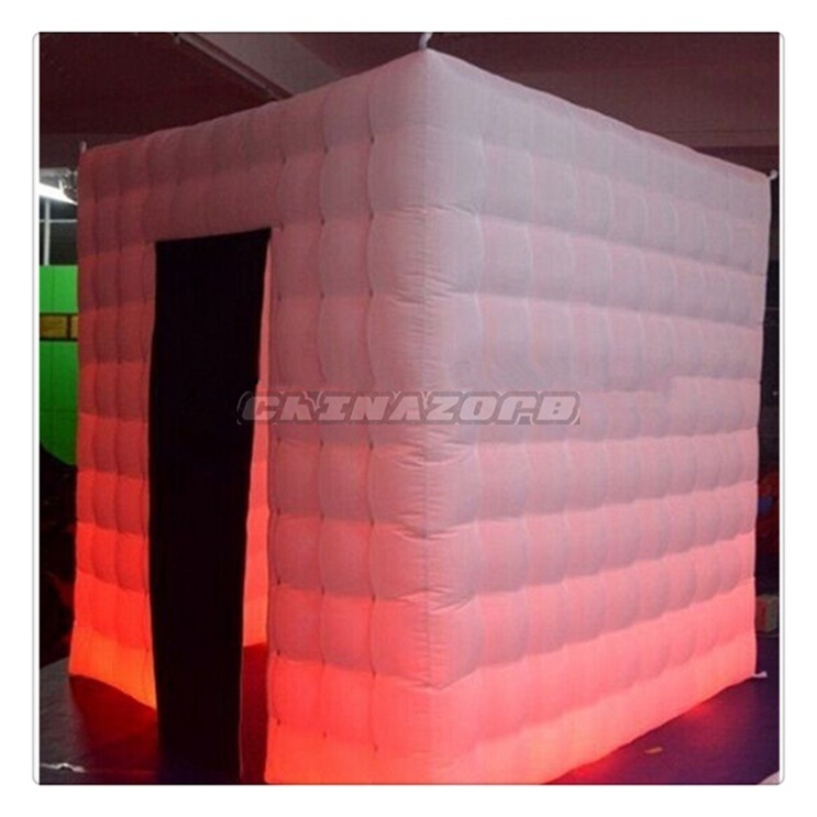 Red LED Lighting Inflatable Photo Booth Inflatable Tent