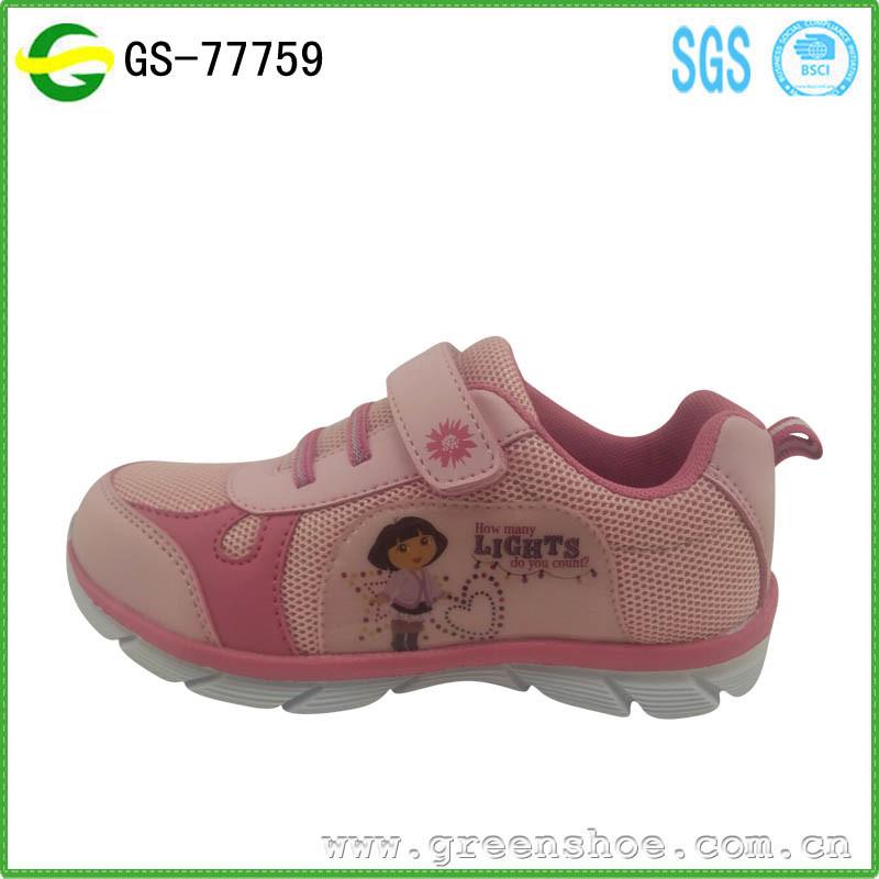 Hot Seller Summer Children Girl Shoes Sport Cartoon Kids Shoes 2017