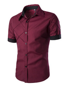 Custom Latest Double Pocket Casual Shirts Pattern for Men Pictures Men Clothing Fashion Shirt 2016