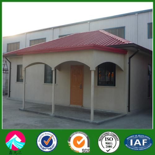 EPS Cement Panel Luxury Steel Structure Frame House 70 Sqm