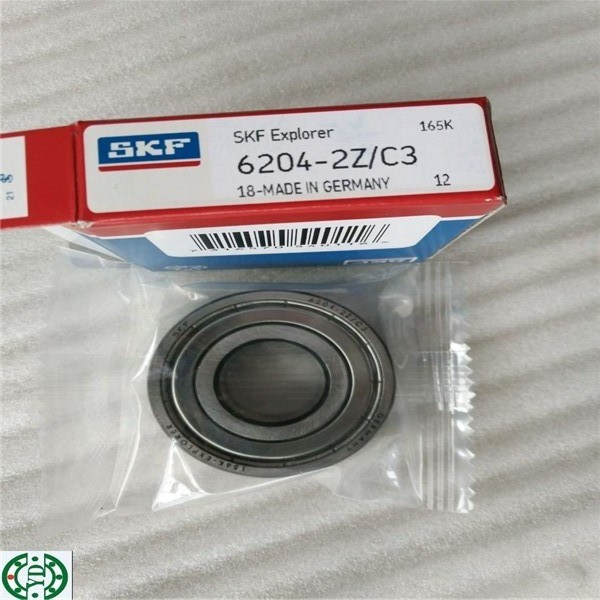 C3 Deep Groove Ball Bearing SKF 6204-2z/C3